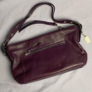 Coach Purple Leather Shoulder Bag
